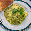 Scrambled Eggs in Green Salsa