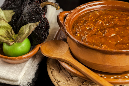Ancho Pepper and Tomatillo Salsa